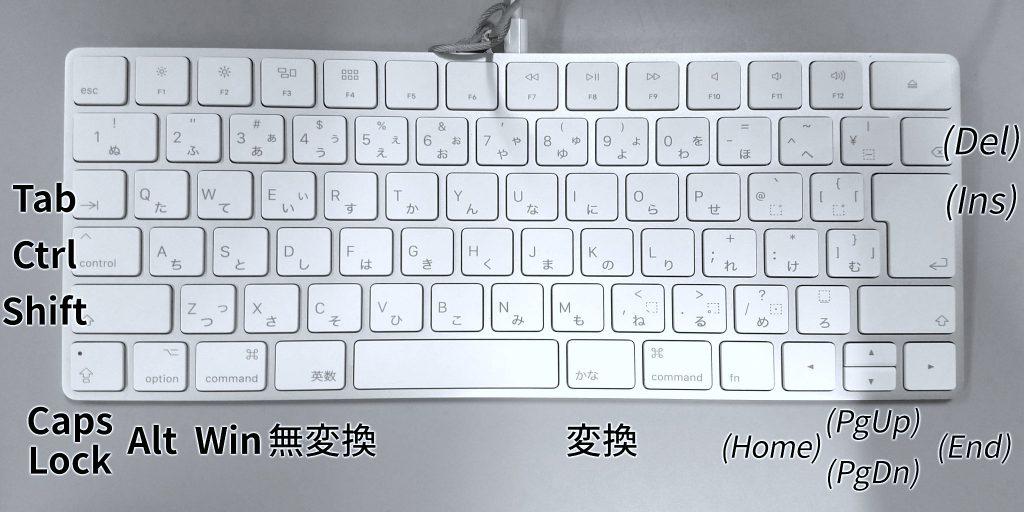 Magic Keyboard Windows 対応図